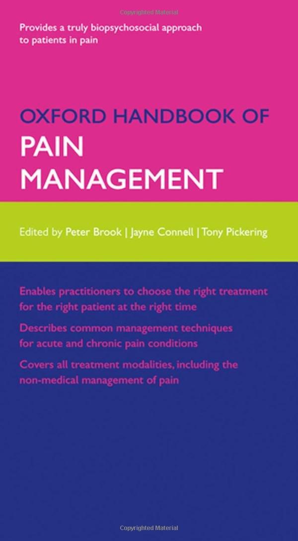 Kết quả hình ảnh cho Oxford Handbook of Pain Management