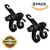 #7: Deezio Upgraded Car Back Seat Headrest Holder Hooks, Purse hooks for car, Vehicle Storage Organizer, Universal Fit for All Cars to Hang Groceries, Bags, Clothes (Pack of 2)