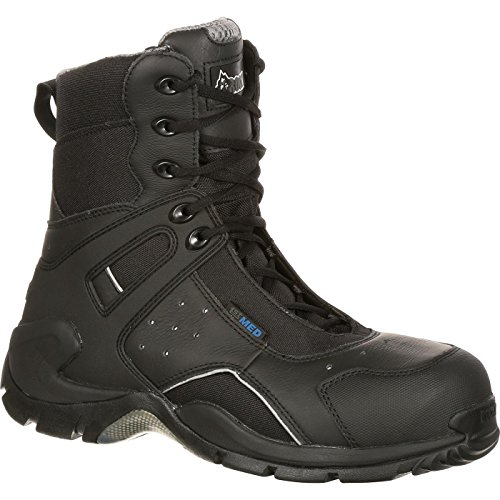 Rocky Men's 8 Inch 1st Med 911-113 Puncture Resistant Work Boot,Black,10 W US ()