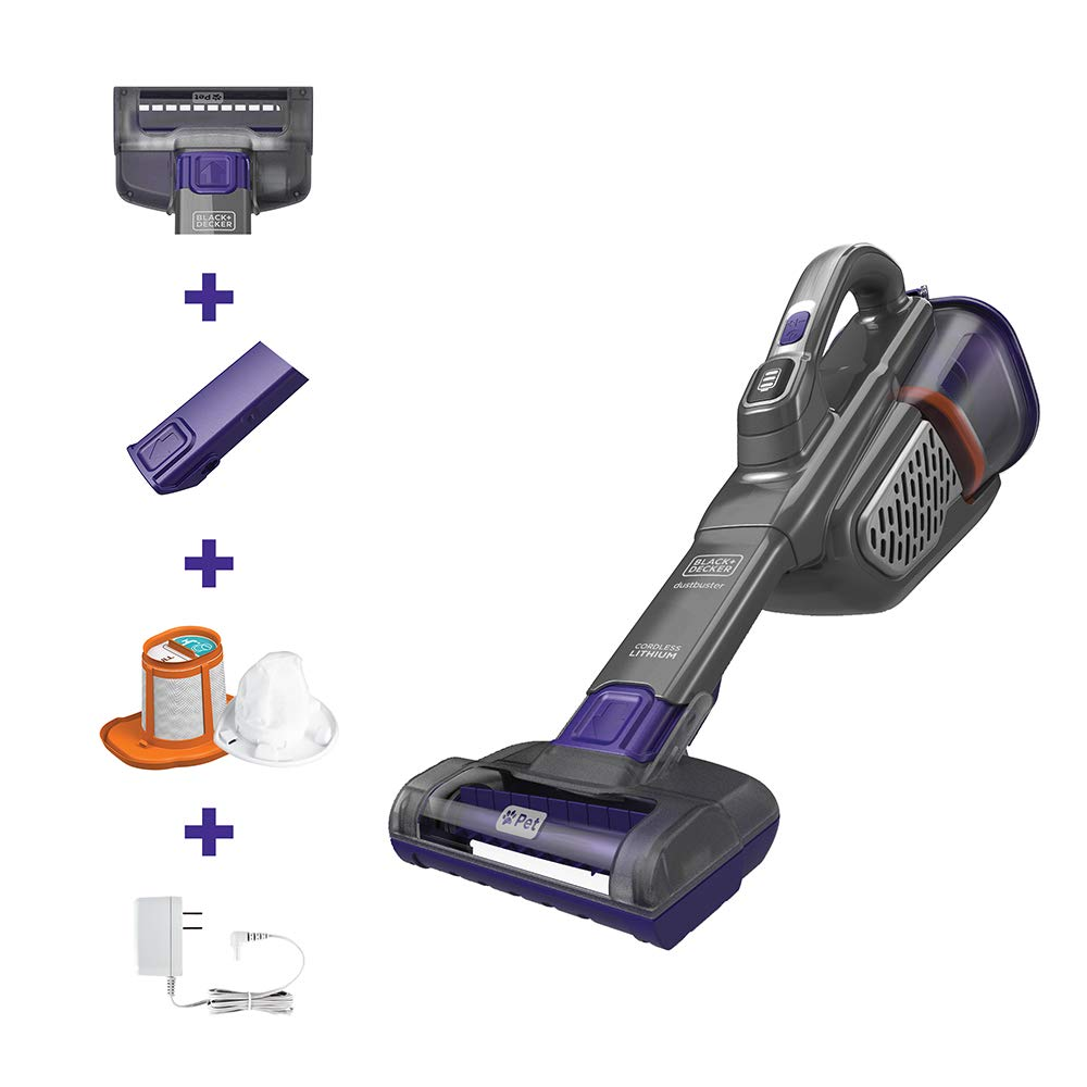 BLACK+DECKER Dustbuster AdvancedClean+ Handheld Vacuum (HHVK515JP07), Gray