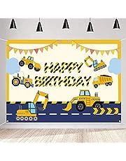 Verjaardagsdecoratie constructie verjaardag banner party decoratie jongen, stoffen bord poster verjaardag party levering verjaardagsdecoratie graafmachine ingenieursbouw