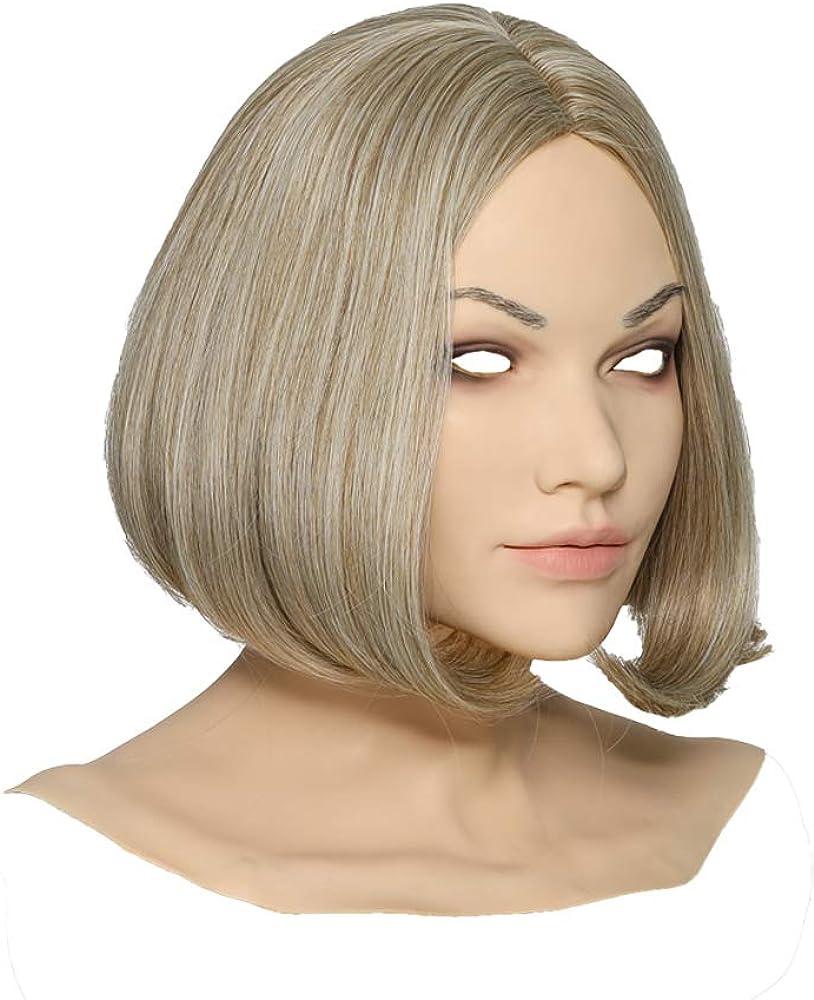 Minaky Hand-Made Silicone Head Mask America Girl for Crossdresser Transgender Costumes Drag Queen