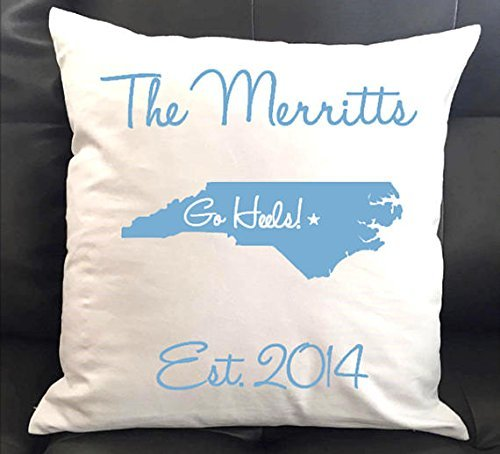 Personalized University of North Carolina Throw Pillow 16x16