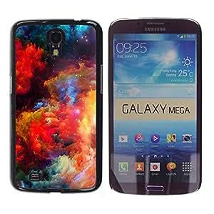 Caucho caso de Shell duro de la cubierta de accesorios de protección BY RAYDREAMMM - Samsung Galaxy Mega 6.3 I9200 SGH-i527 - Colors Universe Bright Galaxy Dust Cosmos