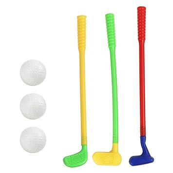 NUOBESTY Juguetes de Golf de plástico Palos de Golf con Pelota de ...
