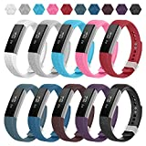 Fitbit Alta Bands,Greeninsync Fitbit Alta Accessory Replacement Band Small for Fitbit Alta Wristbands Available in 18 Colors with Metal Clasp and Ultrathin Fastener (10pack)