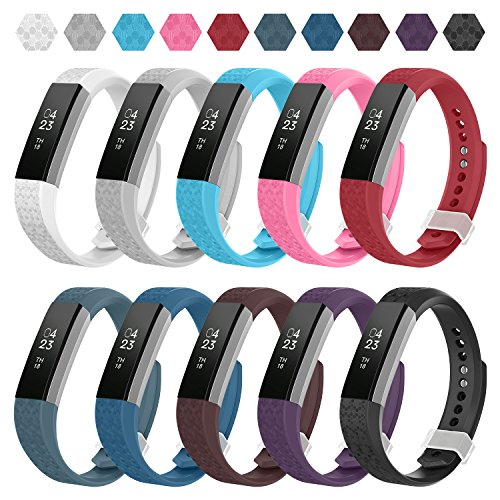 - Greeninsync Compatible Fitbit Alta Band, Replacement for Fitbit Alta Accessory Bands Large Bracelet Straps for Fitbit Alta&Alta HR Fitbit Ace Wristbands with Ultrathin Fastener (10pack)