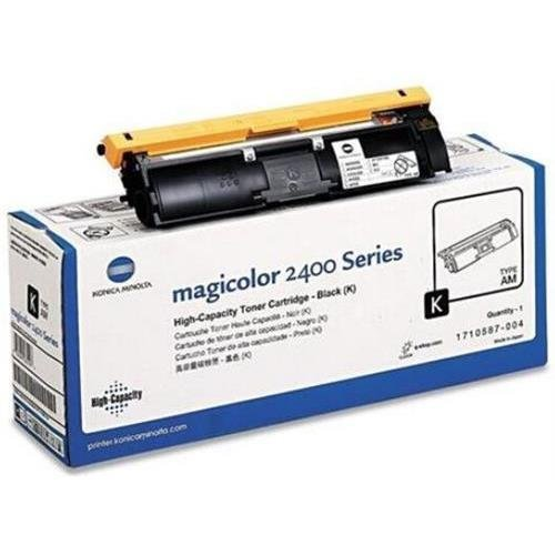 004 Laser Toner Cartridge (Konica Minolta 1710587-004 OEM Toner - magicolor 2400 2430 2450 2480MF 2490MF 2500 2530 2550 2590MF High Capacity Black Toner (4500 Yield) OEM)
