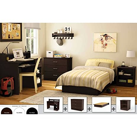 South Shore 4 Piece Bedroom Furniture Set. Perfect Furniture Set For  College Student Or