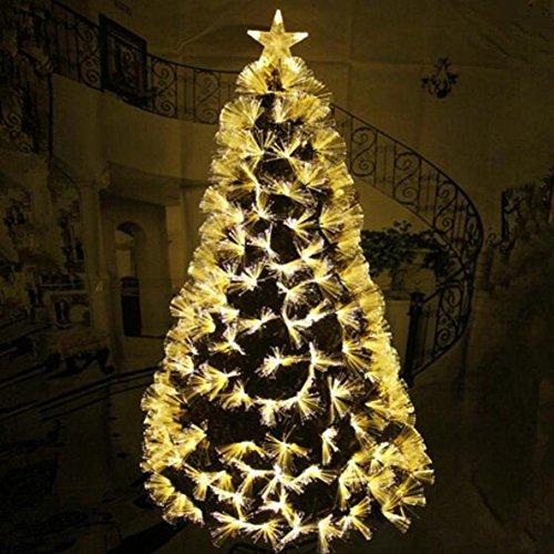 JIN Ornamento De Navidad Con Luces áRbol De Fibra De Oro ÁRbol De Navidad áRbol De Escarcha De Brillo De 1,2 M