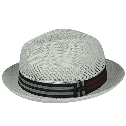 Bailey of Hollywood Mens Berle Fedora Trilby Hat with Striped Band