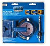 Century Drill and Tool 5910 Shark Tooth Bi-Metal Hole Saw Metal Door Lock Installation Kit, 4 Piece