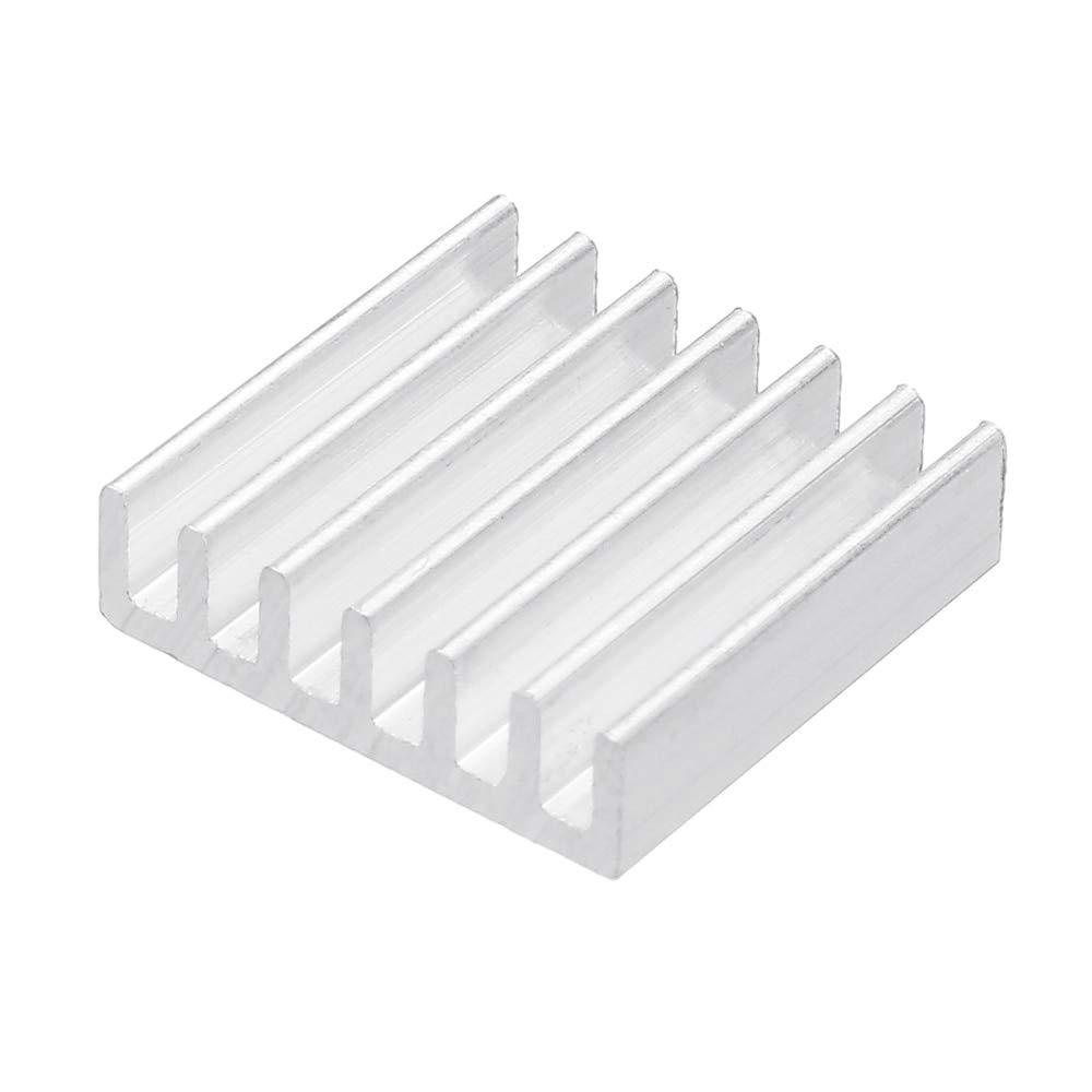 10Pcs 14x14x4mm Silver Computer Cooler Radiator Aluminum Heatsink Heat Sink for Electronic Chip Heat Dissipation Cooling Pads