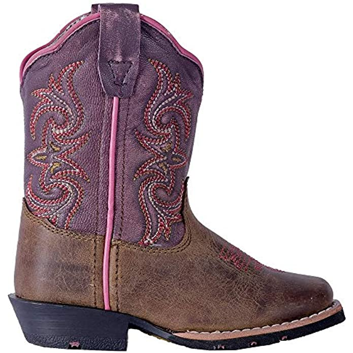 Dan Post Boots Toddler Girls Tryke Square Toe Western Cowboy Dress Boots Mid Calf - Brown