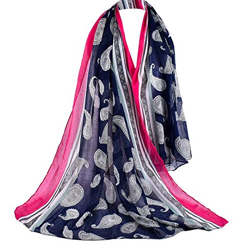 Londony ♥ Scarves for Women,Womens Long Scarf in Peacock Print Large Sheer Shawl Wraps for Evening ()