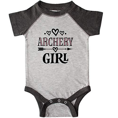 inktastic - Archery Girl Infant Creeper Newborn Heather and Smoke 33288 ()