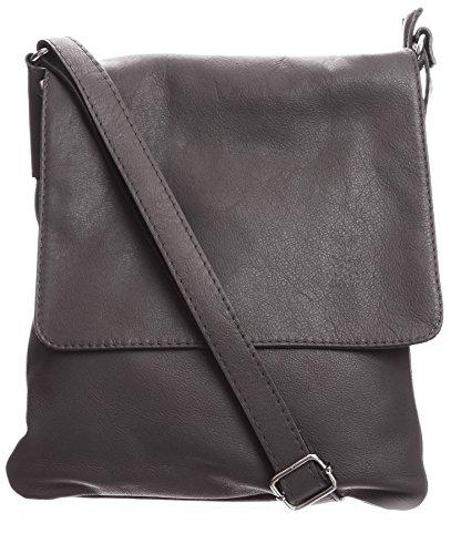 Big Handbag Shop - Borsa a tracolla donna (Dark Taupe (BH366))