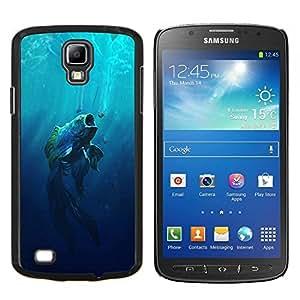 TECHCASE---Cubierta de la caja de protección para la piel dura ** Samsung Galaxy S4 Active i9295 ** --Boca grande Fish