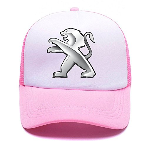 Pegt Car Logo BNUD48 Trucker Hat Baseball Caps Gorras de Béisbol for Men Women Boy Girl Pink