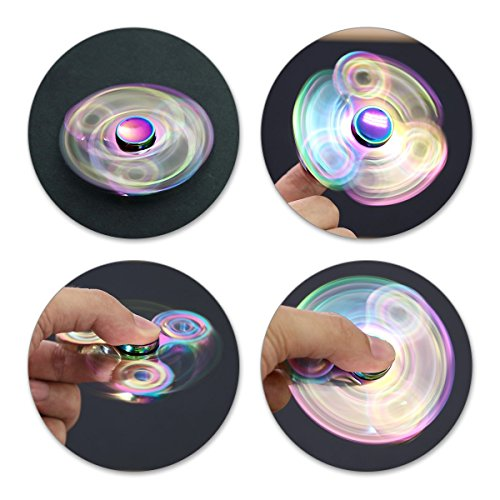 ATESSON Fidget Spinner Toy Ultra Durable Stainless Steel Bearing High Speed 3-5 Min Spins Precision Metal Material Hand spinner EDC ADHD Focus Anxiety Stress Relief Boredom Killing Time Toys