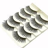 GreatFun 5 Pairs Fashion Natural Handmade Long False Eyelashes Makeup Eye Lashes