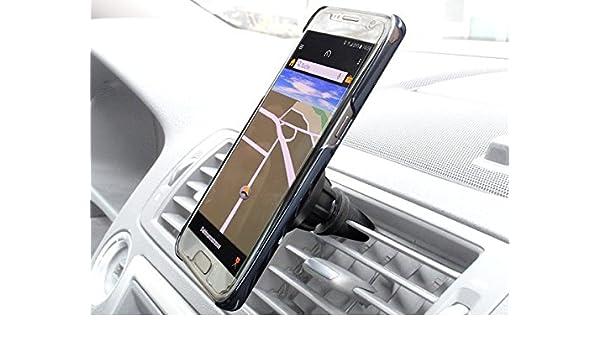 Teléfono Móvil Smartphone Soporte magnética COCHE VENTILACIÓN sostenedor del coche con rótula Para iPhone Samsung HTC etc. Modelo:mh02: Amazon.es: Electrónica
