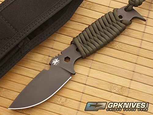 DPx Gear HEST II Assault Fixed Blade Knife,3.15in, Black Satin Tool Steel Bla...