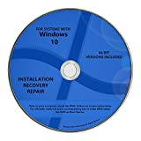 Image of Windows 10 Pro & Home Install Reinstall Upgrade Restore Repair Recovery 64 bit x64 All in One Disc WNYPC Utility DVD