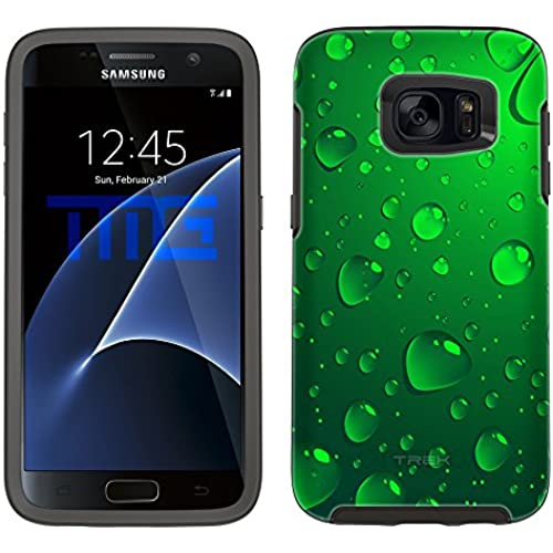 Skin Decal for Otterbox Symmetry Samsung Galaxy S7 Edge Case - Green Water Drops Sales