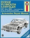 Dodge/Plymouth/Chrysler Fullsize (rwd)  '71'89 (Haynes Repair Manuals)