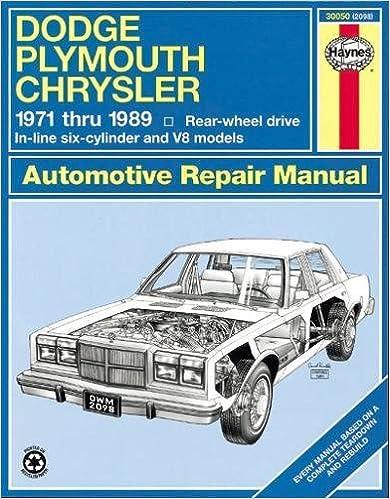 Dodge/Plymouth/Chrysler Fullsize (rwd) '71'89 (Haynes Repair Manuals on 71 mercury cougar wiring diagram, 71 vw karmann ghia wiring diagram, 71 buick skylark wiring diagram,