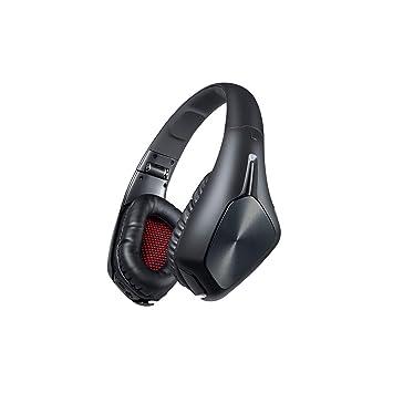 YFQH Auricular Bluetooth Auricular-Auriculares inalámbricos Plegables de la música de los Deportes conectables Compatible con la reducción de Ruido del ...
