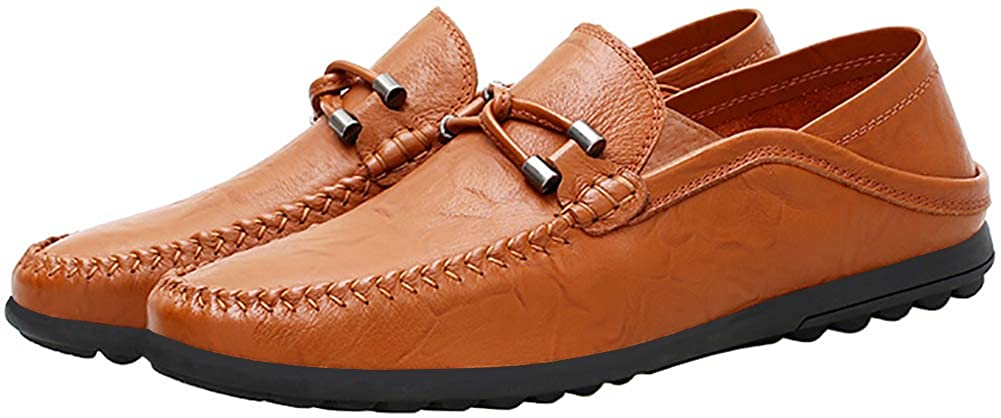 Boleone Mens Leather Casual Slip-on Loafer Driving Shoes