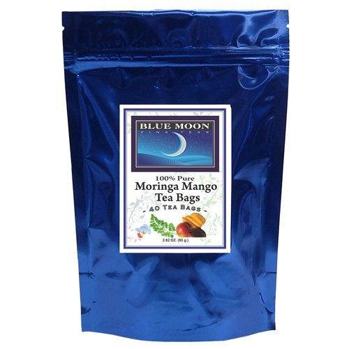 Blue Moon Organic Moringa Mango Tea Bags 40 Pack