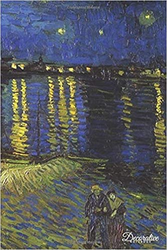 decorative notebook starry night over the rhone by vincent van gogh journal pocket sized notebook travel diary
