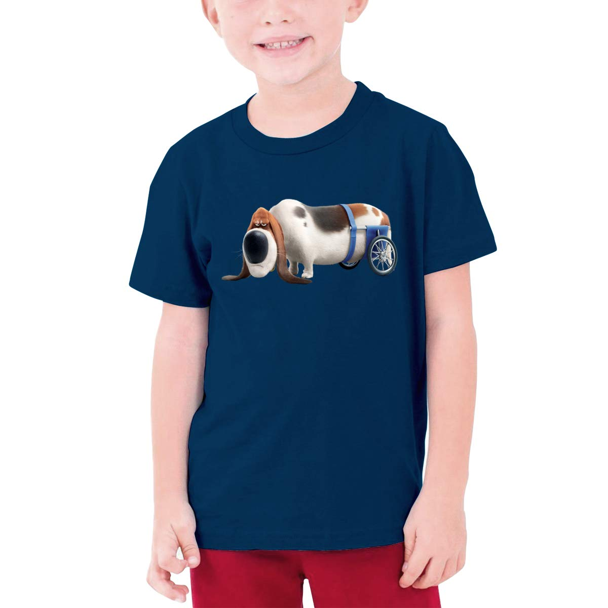 LOUHART Custom The Secret Life of Pets Old Dog Funny Shirt O-Neck for Youngster Black