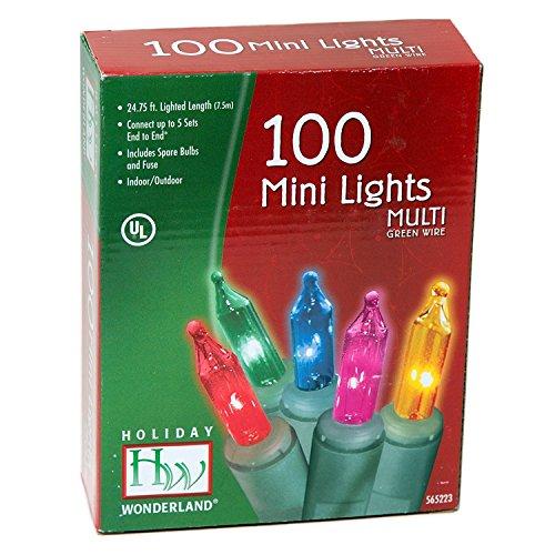 Holiday Wonderland #565223 100-Count Multi Color Christmas Light Set (2-pack)