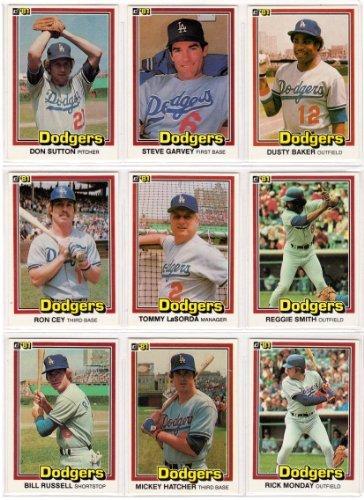 Los Angeles Dodgers 1981 Donruss Premier Issue Baseball Team Set