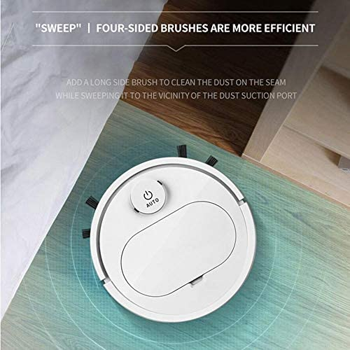 Robot Automatique Aspirateur sans Fil Balayage Robot Chargement USB Intelligent Lazy Vaccum Cleaner Robots Household, White