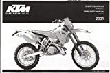 320816 2001 KTM 250 300 380 SX MXC EXC Spare Parts Manual Chassis