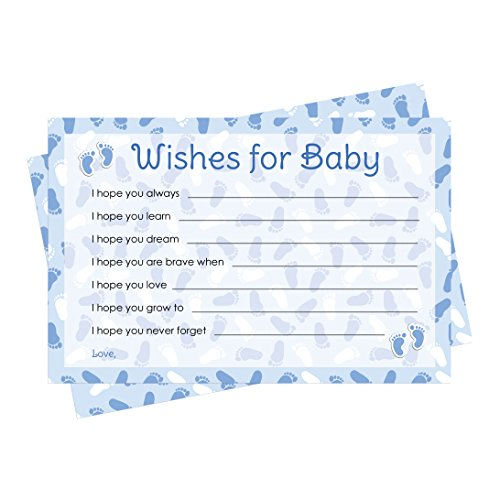 Theme Invitation Cards (Wishes for Baby Cards - Blue Boy Baby Shower (20 Count))