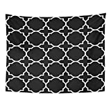 AlliuCoo Wall Tapestries 60 x 50 Inches Christian Black Geometric Pattern Byzantine Church Home Decor Wall Hanging Tapestries Living Room Bedroom Dorm