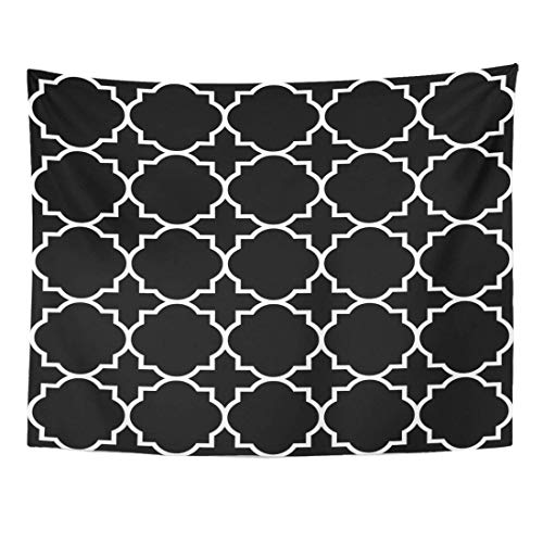 AlliuCoo Wall Tapestries 60 x 50 Inches Christian Black Geometric Pattern Byzantine Church Home Decor Wall Hanging Tapestries Living Room Bedroom Dorm by AlliuCoo