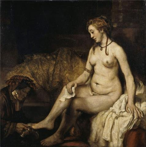 Oil Painting 'Rembrandt Harmenszoon Van Rijn-Bathsheba At Her Bath,1654' 12 x 12 inch / 30 x 31 cm , on High Definition HD canvas prints is for Gifts And Game Room, Garage And Nursery Decoration, (Professional Clown Shoes)