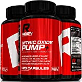 Nitric Oxide Pump+ - Powerful N.O. Pre Workout w/ L-Arginine, Citrulline Malate & Agmatine Sulfate - Stimulates Blood Flow & Enhances Recovery for Increased Muscle Mass - 120 Vegetable Capsules offers