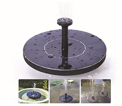 Pompe de Fontaine Solaire Pompe à Eau Solaire Flottante 1.4W avec kit de fontaines à différentes têtes Spay pour Jardin et Patio Arrosage extérieur et Bain d'oiseaux Anyos