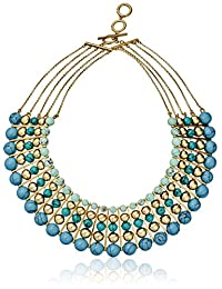 """Carolee The Blue Line The Blue Line Dramatic Multi-Row Necklace, 16""""+ 3"""" Extender"""