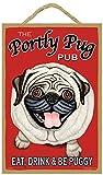 Retro Pets Pug, Fawn Pug Portly Pug Decorative Wall