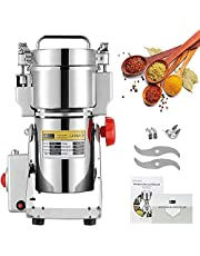 CGOLDENWALL Swing Type Electric Grain Grinder Mill 300g Stainless Steel High-Speed Spice Pepper Grinder Upgraded Open-cover-stop Safety Design Cereals Puerizer Herb Grinder Commercial Fine Powder Machine with CE Certificate, Gift for Mom and Wife