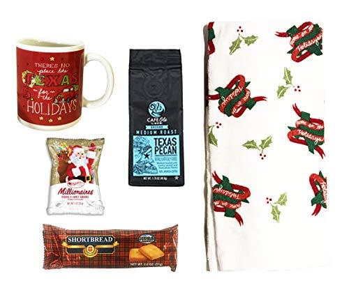 - Gourmet Gift Baskets- Taste of Texas Christmas Gift Box - Home for the Holidays Texas Towel, No Place Like Texas Coffee Mug, Cookies, Texas Coffee, More (Small - Texas Gift Set)